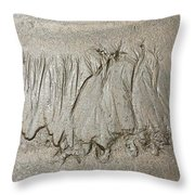Art Created By Nature On Sand  Throw Pillow