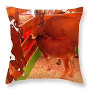Art Critic Throw Pillow