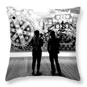 Art Critics Throw Pillow