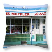 Art Deco Filling Station 1 Throw Pillow