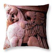 Art Deco Griffin Circa 1925 Throw Pillow