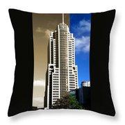 Art Deco Nbc Tower Throw Pillow