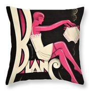 Art Deco Paris Lingerie Ad Throw Pillow