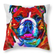 Art Dogportrait Throw Pillow