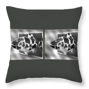 Art Fish - Gently Cross Your Eyes And Focus On The Middle Image That Appears Throw Pillow
