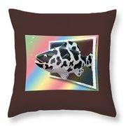 Art Fish Fun Throw Pillow