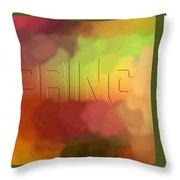Art For Spring Throw Pillow