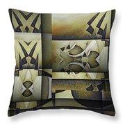 Art From The Klingon Homeworld Throw Pillow