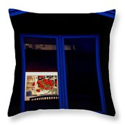 Art Gallery At Night Throw Pillow