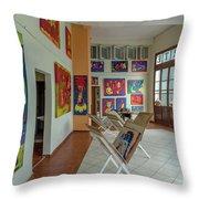 Art Gallery In Havana Throw Pillow