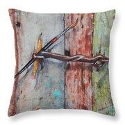 Art Hook Throw Pillow