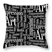 Art Idea Inspiration Throw Pillow