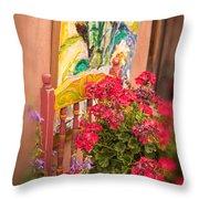 Art Imitates Life Throw Pillow