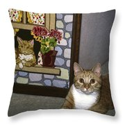 Art Imitates Life Throw Pillow