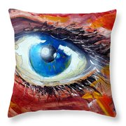 Art In The Eyes Throw Pillow