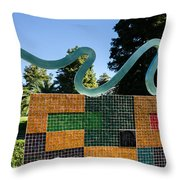 Art In The Park - Louis Armstrong Park - New Orleans Throw Pillow
