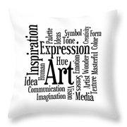 Art Inspiration Creativity Throw Pillow