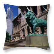 Art Institute Of Chicago Chicago Il Usa Throw Pillow