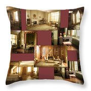 Art Institute Of Chicago Miniature Room Collage Throw Pillow