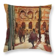 Art Institute Reflected Throw Pillow