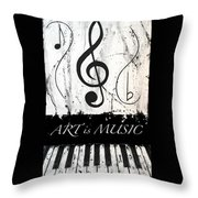 Art Is Music-music In Motion Throw Pillow