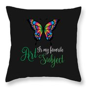 Art Is My Favorite Subject Throw Pillow