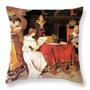 Art Lesson Throw Pillow