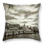 Art Museum Time Exposer Throw Pillow