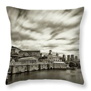 Art Museum Time Exposer Throw Pillow by Jack Paolini
