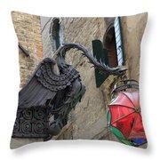 Art Nouveau Dragon In Marzaria Venice Italy Throw Pillow