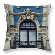 Art Nouveau In Riga Throw Pillow