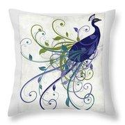 Art Nouveau Peacock I Throw Pillow
