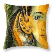 Art Of Listening Throw Pillow