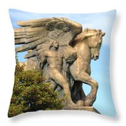 Art Of Peace Pegasus Throw Pillow