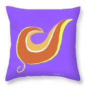 Art On Blue Throw Pillow