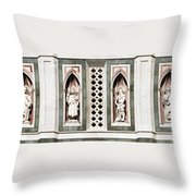 Art On Duomo In Florence Italy Throw Pillow