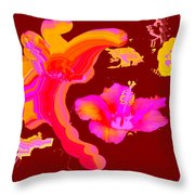 Art Play Hibiscus 1 Throw Pillow