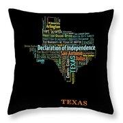 Art Print, Pop Art Texas Map, Modern Style Country Map, Country Maps For Home Decor, Pop Art Map Pri Throw Pillow