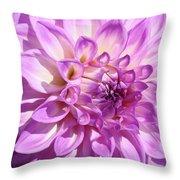 Art Prints Dahlia Flower Decorative Art Garden Baslee Throw Pillow