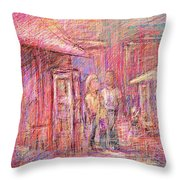 Art Show Throw Pillow