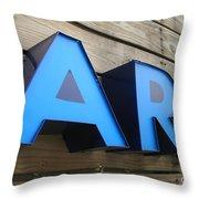 Art Sign Throw Pillow