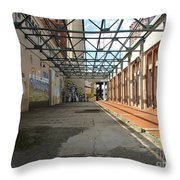 Art Space In Former Power Plant Throw Pillow