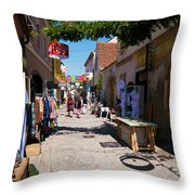 Art Street In Varazdin Throw Pillow