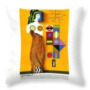 Art Today - London Underground, London Metro - Retro Travel Poster - Vintage Poster Throw Pillow