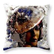 Art Vintage She Fragmented Throw Pillow