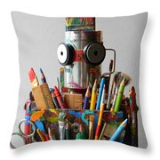 Art Warrior Throw Pillow by Jen Hardwick