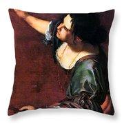 Artemisia Gentileschi Throw Pillow