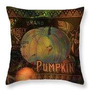 Artful Pumpkins Throw Pillow
