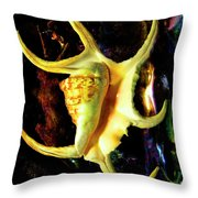 Arthritic Spider Conch Seashell Throw Pillow