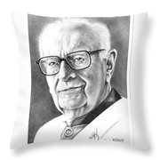 Arthur C. Clarke Throw Pillow